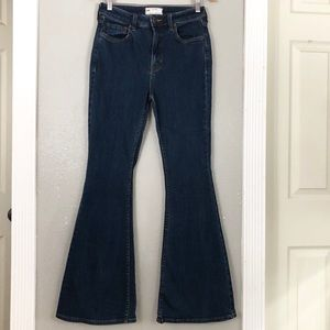 Free People bell bottom high rise jeans